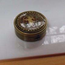 Cloisonne Enamel Cupid/Floral Pill/Trinket Box - $45.00