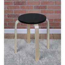 Baha 18 in. Natural/Black Bentwood Accent Stool - $69.49