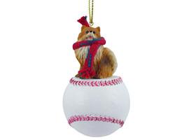 Pomeranian Red Baseball Ornament - $17.99