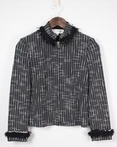 St. John Collection Black White Fringe Trim Knit Jacket 2 - $126.37