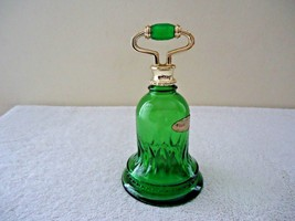 "Vintage  1978 Avon Green Glass Sweet Honesty Cologne Bell Decanter "" BEA... - $16.82"