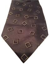 """Giorgio Armani Cravatte Made In Italy Silk Geometric Square Pattern Blue Tie 58"""" - $14.84"""