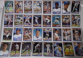 1991 Topps Los Angeles Dodgers Team Set of 32 Baseball Cards - $6.00