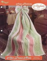 After Dinner Mints Aran Afghan Tns Crochet PATTERN/INSTRUCTIONS New Rare - $4.47