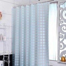 Europe PEVA Shower Curtain Waterproof Mold Proof Eco-friendly Blue Endless Bath  - $30.44