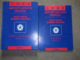 1993 Dodge Colt Vista Eagle Summit Wagon Service Shop Repair Manual SET ... - $44.54