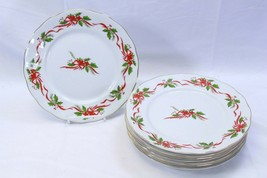 """Baum Southington Victorian Holiday Dinner Plates 10.25"""" Lot of 8 - $48.99"""