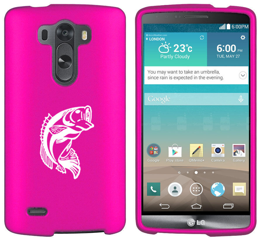For LG G2 G3 Vigor G4 Shockproof Impact Rubber Hard Case Cover Bass Fish