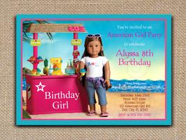 AMERICAN GIRL Kanani INVITATION - Printable and Text Editable PDF File  - $8.00