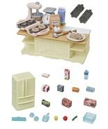 TWO Sylvanian Families Sets - Island Kitchen & Refrigerator Sets  - $23.75