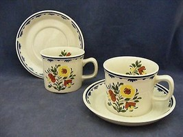 2 Wedgwood Breton Cup & Saucer Sets  Very Good Condition - $18.00