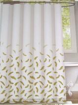 Envogue Golden Feathers 100% Cotton Shower Curtain - $37.00