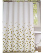Envogue Golden Feathers 100% Cotton Shower Curtain - $37.00
