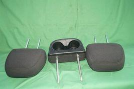 11-15 Dodge Journey 2nd Row Black Cloth 3 Headrests Headrest w/ Cupholder image 8