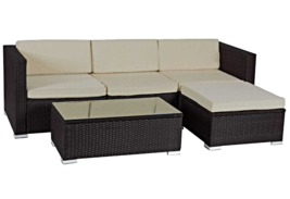 5 PCS Patio Furniture Set Rattan Wicker Table Garden Sofa  - $1,445.00