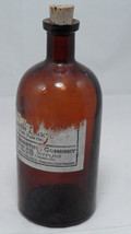 Old Amber Owens Illinois Central Scientific Alcohol Amyl Fusel Apothecary Bottle - $22.23