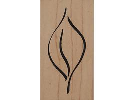 Denami Design 1994 Leaf Wood Mounted Rubber Stamp