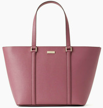NWT Kate Spade Jules Saffiano Leather Extra Large Tote Dark Lilac Newbury Lane - $119.99