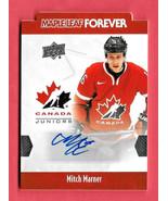 2016-17 Mitch Marner Upper Deck Team Canada Juniors Auto Maple Leaf Forever - $166.24
