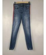 Abercrombie & Fitch Womens Jeans Sz 25/0 Blue Side Stripe Simone High Ri... - $32.88