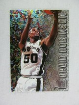 David Robinson San Antonio Spurs 1996 Fleer Basketball Card Number 91 Metal - $0.98