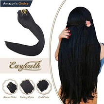 Easyouth 22inch Silky Straight Clip in Hair Remy Human Hair Extensions 120g 7Pcs - $132.81