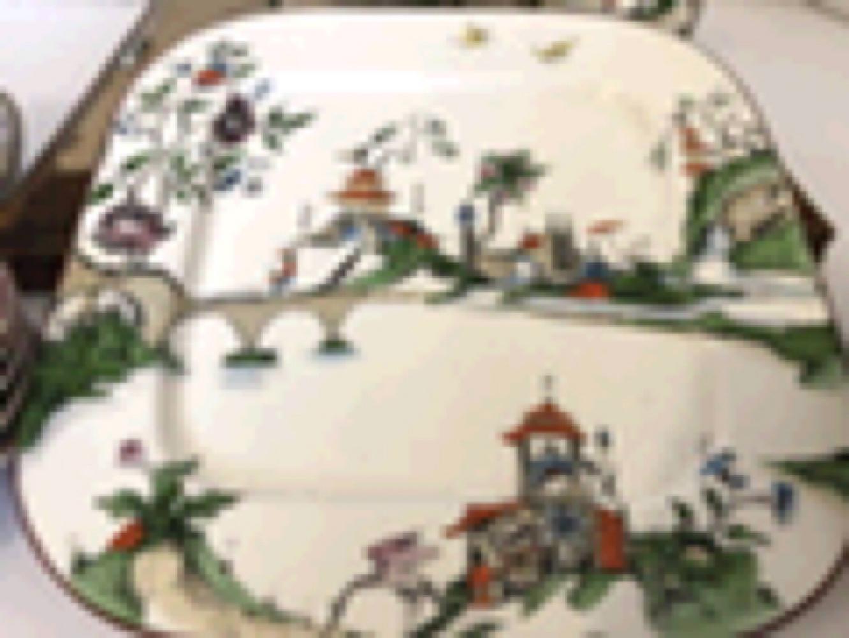 Royal Worchester Inc. Porcelain Tea Set-Asian Design