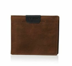 NEW STEVE MADDEN MEN'S PREMIUM LEATHER CREDIT CARD ID WALLET BROWN N80007/01 image 1