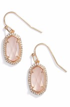 NEW! Kendra Scott Lee Dainty Rose Gold Drop Earrings Pave Crystals & Dus... - $74.25