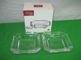 Cristal D'Arques  Paris Set of Two Lead Crystal Bowls Neo Classic - $15.85