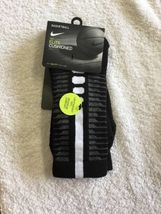 Nike MEN'S  Dri-Fit Elite Disrupter 1.5 Cushioned Crew Socks-Black  NWT image 4