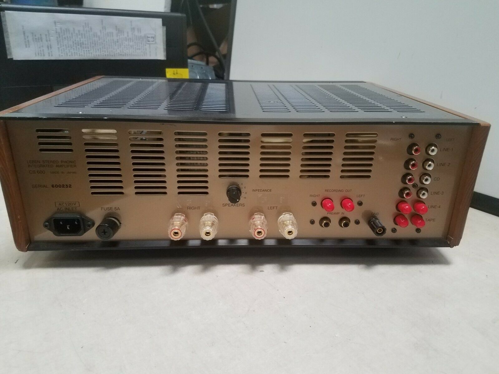 Leben CS600 integrated amp AS IS FOR PARTS OR REPAIR NO RETURNS
