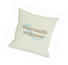 One Bella Casa Mermaids Welcome Throw Pillow by... - $85.64