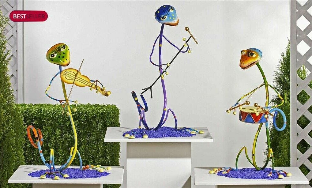"24"" Metal Zany Lizard Garden Freestanding Figurines - 3 Choices"