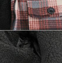 Men's Heavyweight Zip Up Fleece Plaid Sherpa Lined Brown Hoodie Jacket XL image 3
