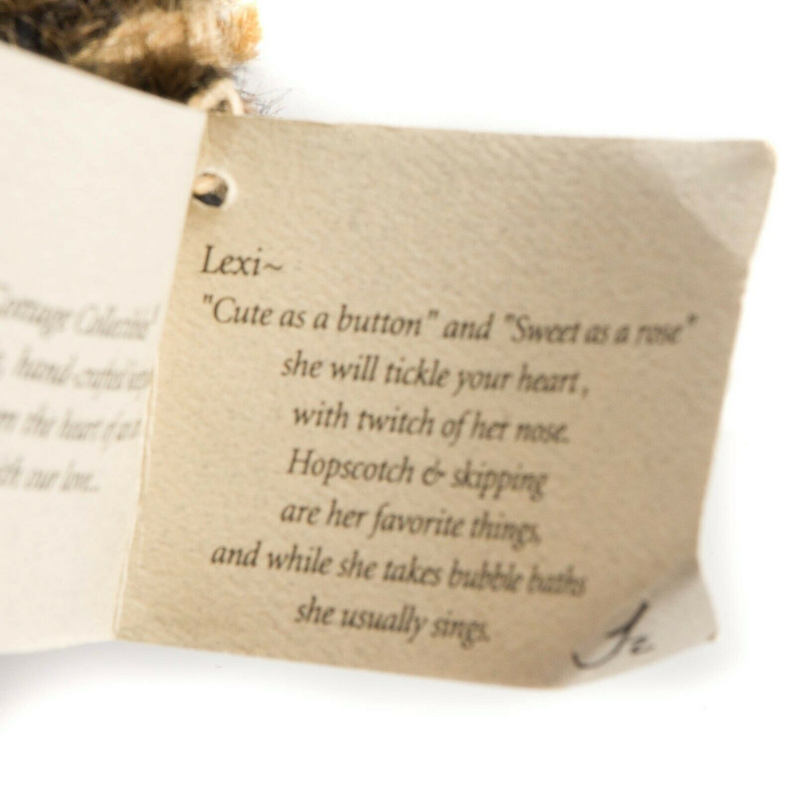 """Ganz Cottage Collectibles Lexi Teddy Bear 11"""" First Edition Scarf Tag CC1801 image 6"""