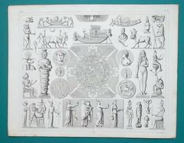 MYTHOLOGY Egypt Gods Idols Eye Isis Osiris Zodiac - SUPERB 1844 Antique ... - $24.84