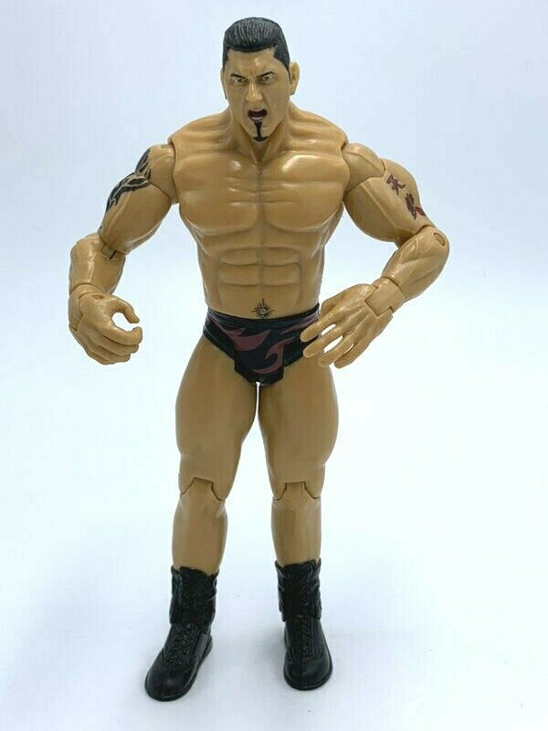 Primary image for WWE Batista Action Figure Black Flame Trunks 2003 Jakks Pacific 7""