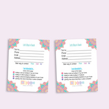 Lularoe Customer Contact card - Digital File - Mandala - $8.00