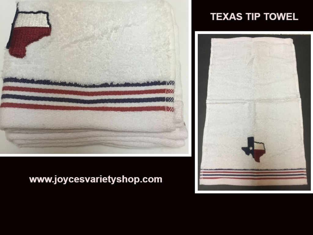 Texas tip towel web collage