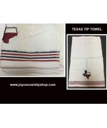 "Texas Lone Star State Tip Towel 18"" x 11"" 100% Cotton Soft Plush Set of 2 - $10.99"