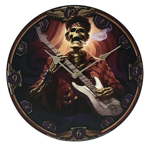 Primary image for Pacific Giftware Dead Groovy Wall Clock by James Ryman Gothic Round Plate...