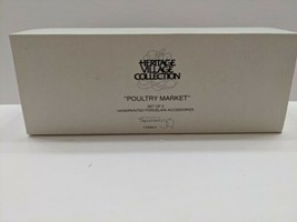 Heritage Village Collection Poultry Market set of 3 Porcelain-new in box - $18.80