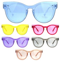Womens Unique Exposed Panel Lens Cat Eye Horn Rim Keyhole Sunglasses - $12.95