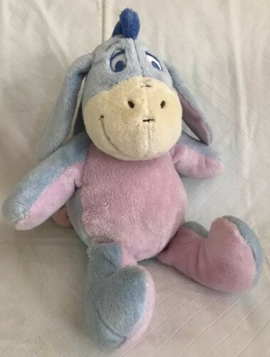 "KIDS PREFERRED Stuffed Plush EEYORE Crinkle Ears Rattle 12"" Disney Baby Toy"