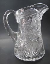 ABP cut glass squat pitcher hand cut - $82.87