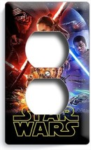 STAR WARS FORCE AWAKENS JEDI REBELS DUPLEX OUTLET WALL PLATE COVER ROOM ... - $8.90