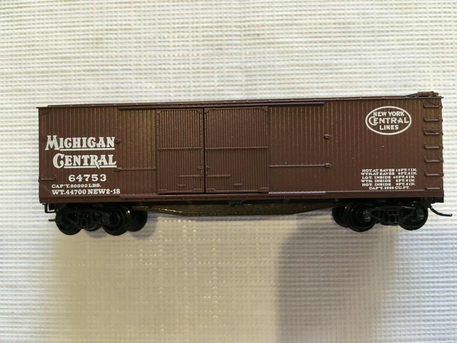 Primary image for Micro Trains 43060 N-Scale 40ft Wood Sheathed Boxcar, Michigan Central MC 62473