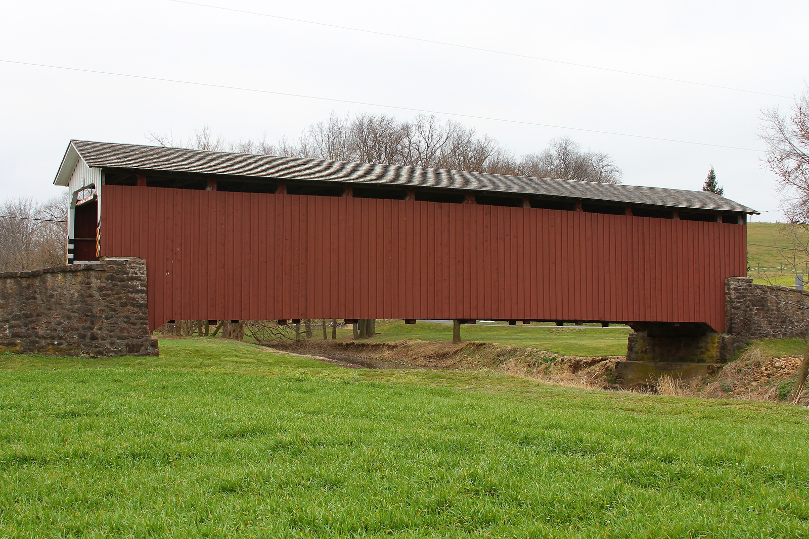 Weaver's Mill Covered Bridge 13 x 19 Unmatted Photograph