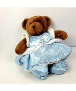 "Build a Bear Plush Teddy Bear Blue Princess Dress Stuffed Animal 15""  - $16.83"
